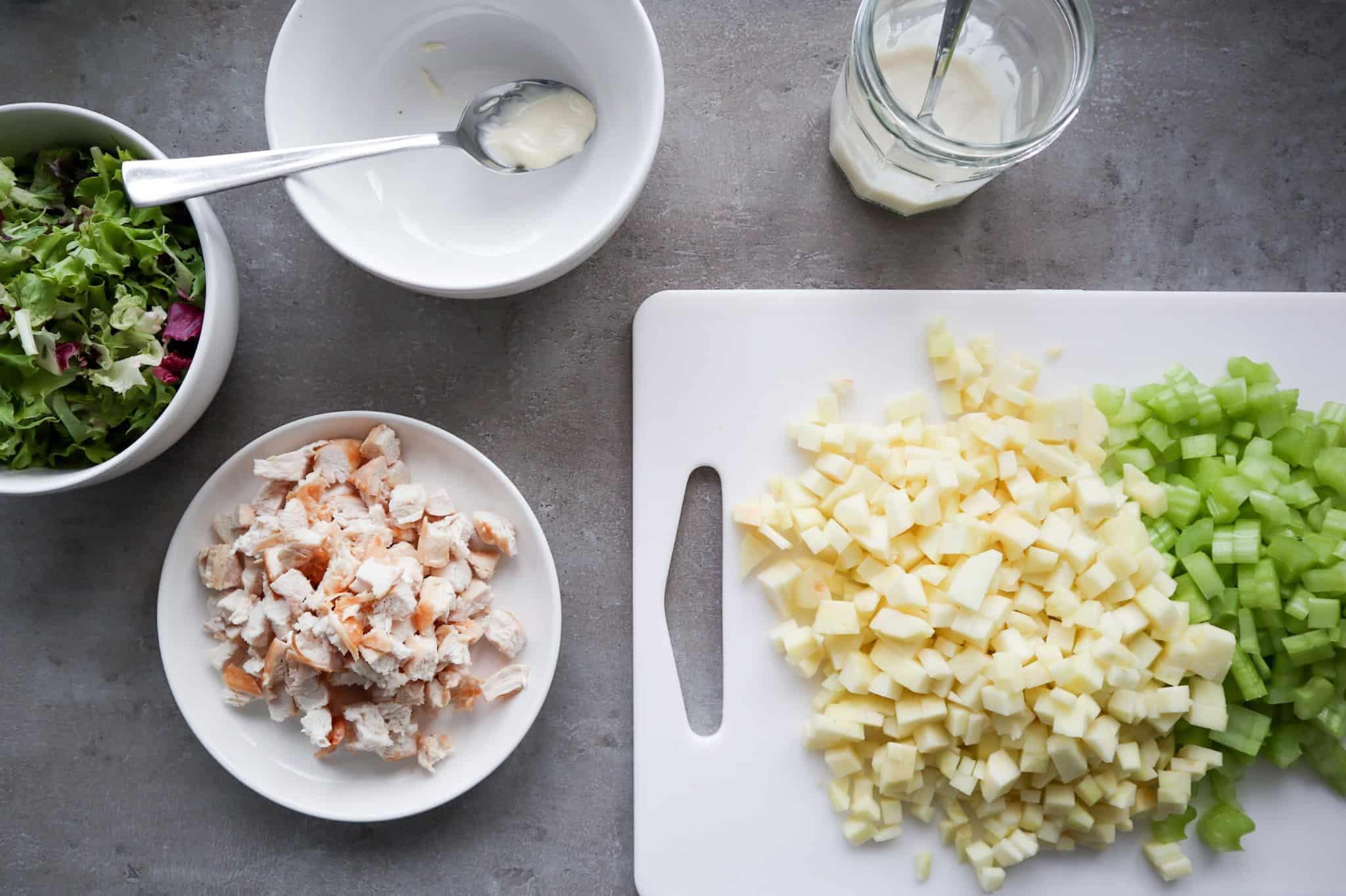 Stap 1 waldorf salade