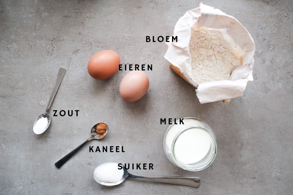 Ingrediënten voor kaiserschmarrn
