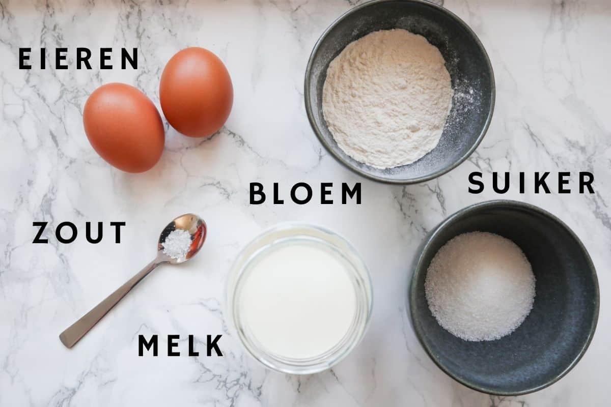 Ingrediënten voor pannenkoeken