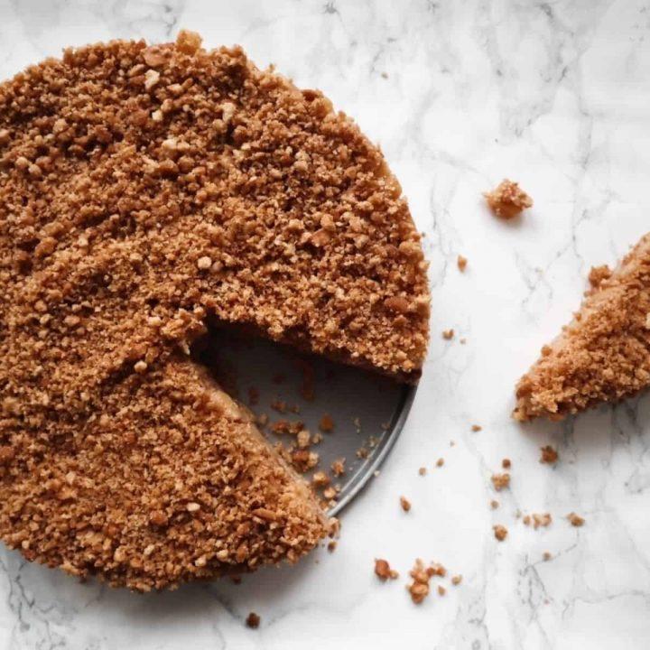 No bake appeltaart op marmer